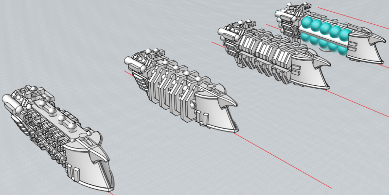 Battlefleet Kafeinus - De la 3D dans le hobby Caravelles_Crescent
