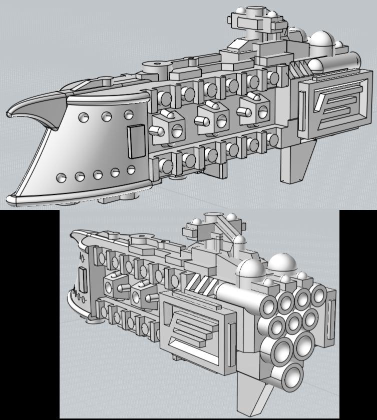 Battlefleet Kafeinus - De la 3D dans le hobby Crescent_system_ship