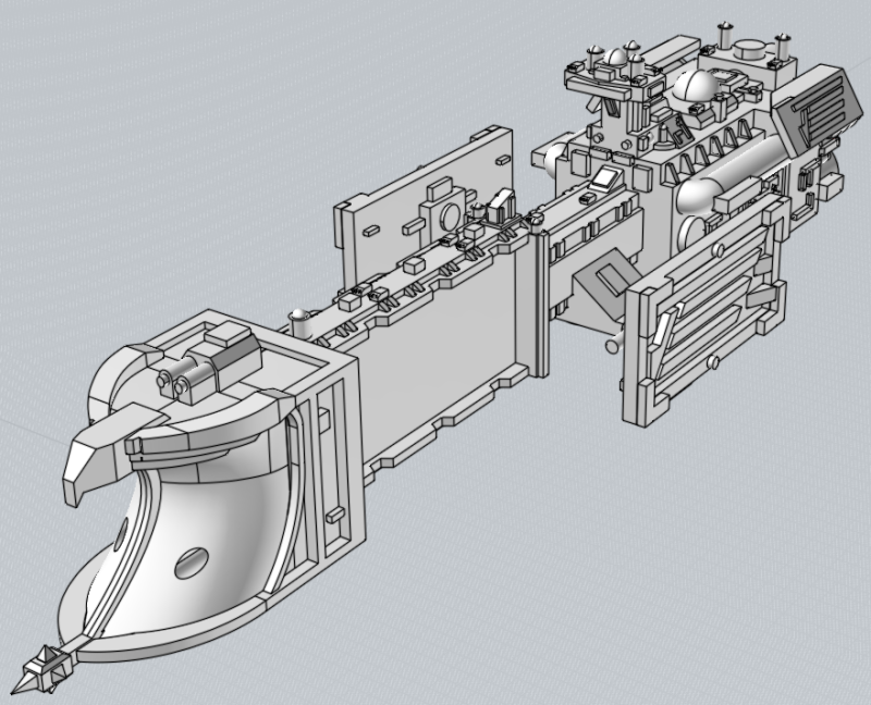 Battlefleet Kafeinus - De la 3D dans le hobby Pompadour_34