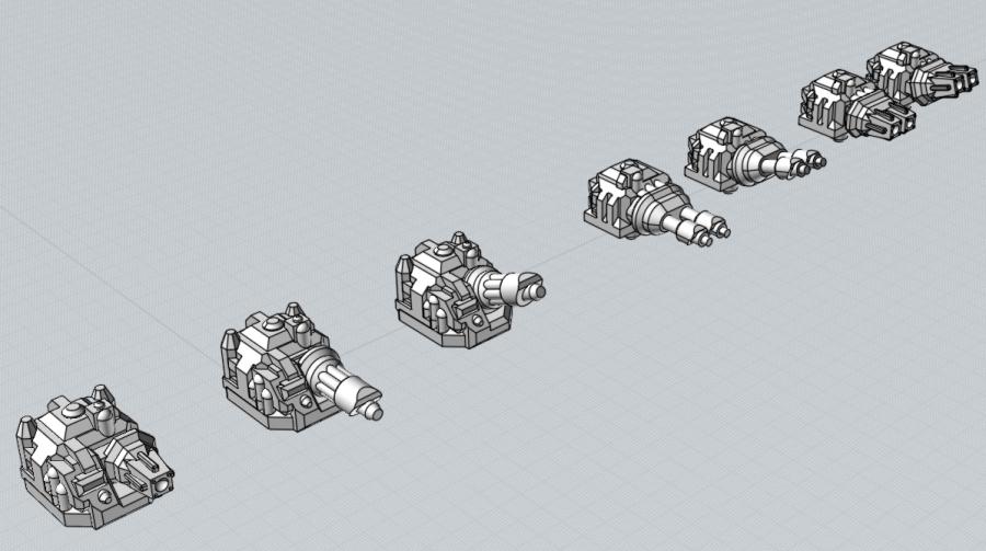 Battlefleet Kafeinus - De la 3D dans le hobby Demo_tourelle