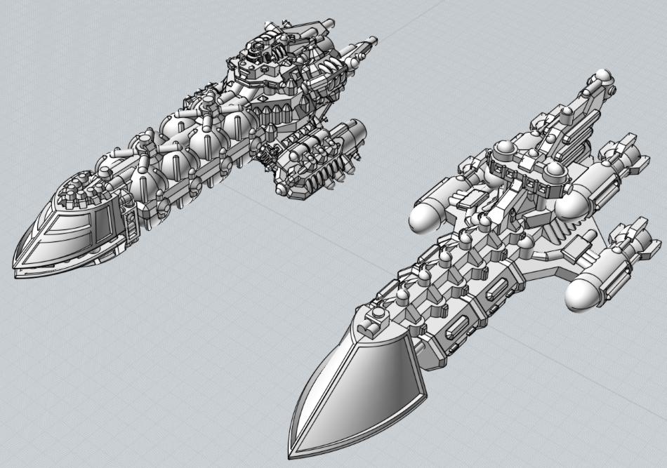 Battlefleet Kafeinus - De la 3D dans le hobby - Page 5 Fast_Clipper_2